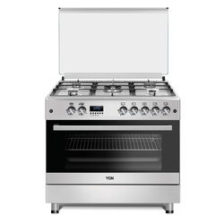 Bosch F9SG50G2-1LRM Cooker 5 Gas, 90CM, Gas Oven - Silver