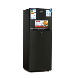 VON VART-18DMS Double Door Fridge 138L - Stainless Steel