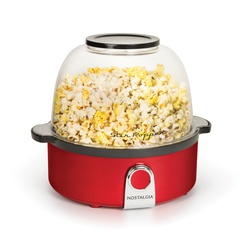 Nostalgia SP240RR Stir Popcorn Popper - Retro Red